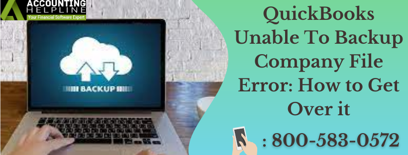 Quickbooks unable to backup company file