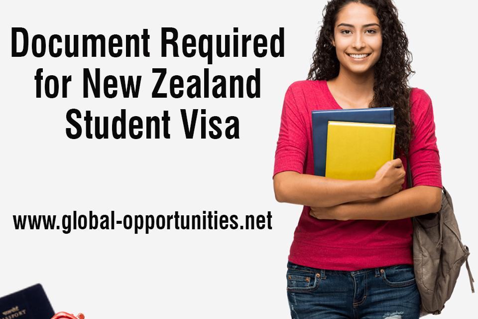 Document Required for New Zealand Student Visa
